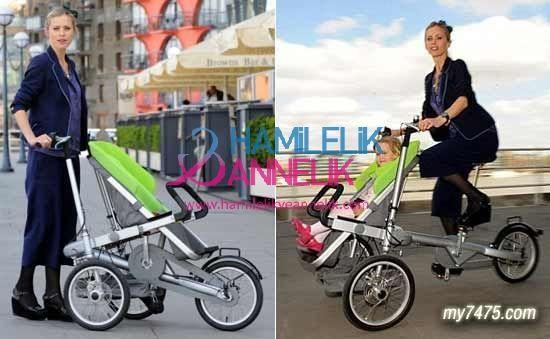 taga Taga bebek arabası, bisiklete dönüşen araba
