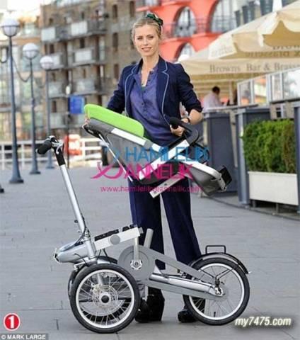 taga1 Taga bebek arabası, bisiklete dönüşen araba