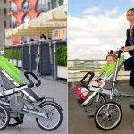 Taga bebek arabası, bisiklete dönüşen araba